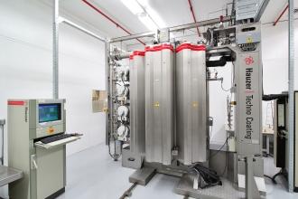 One of ECF's Hauzer Techno Coating PVD machines